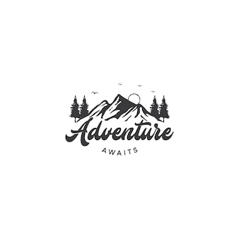 Mountain logo for adventure and outdoor logo design