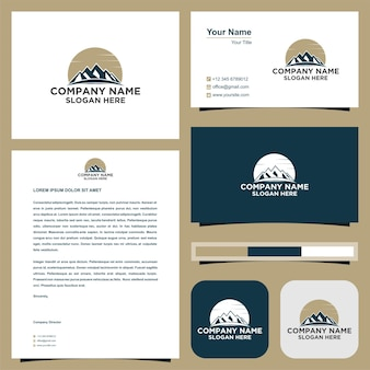 Mountain logo and business card
