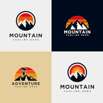 Mountain logo collection template