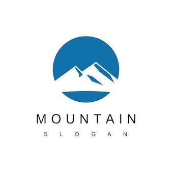 산 로고 디자인 서식 파일, 자연 기호