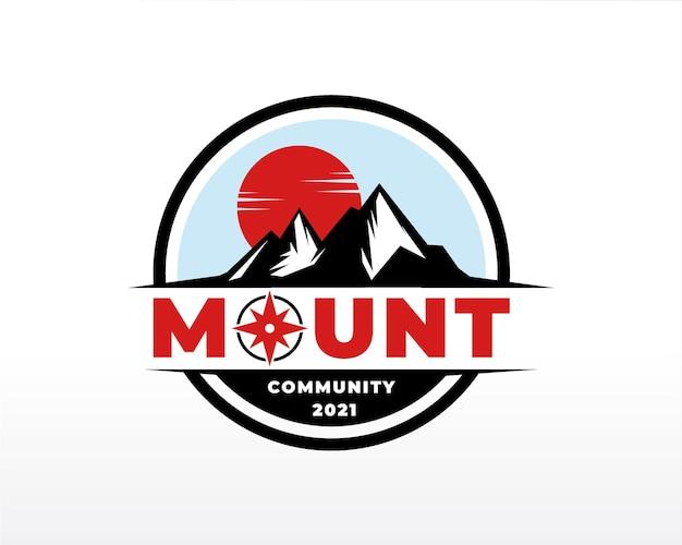 山のロゴデザインベクトルシルエットイラスト