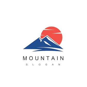 산 로고 디자인 벡터