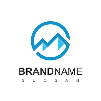 山のロゴデザインベクトル
