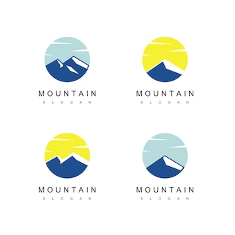 Mountain logo design vector