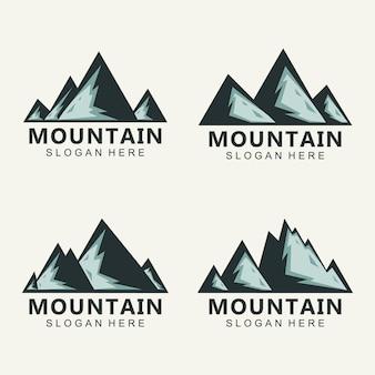 Горный логотип дизайн вектор