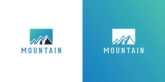 Гора логотип элегантный горный векторный дизайн логотипа иллюстратор