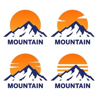 Набор горных логотипов