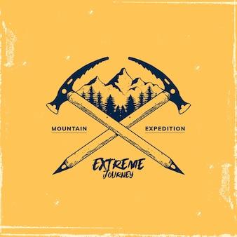 Дизайн шаблона логотипа горы для эмблем и других