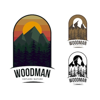 Mountain logo template design