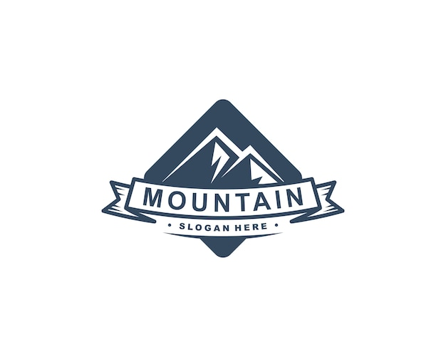 Mountain logo template vector illustration