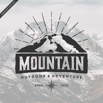Mountain logo vintage