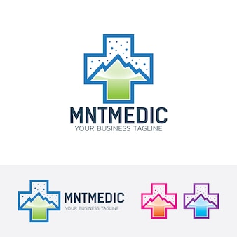 Mountain medic logo template