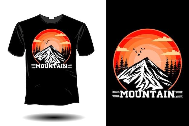 Mountain mockup retro vintage design