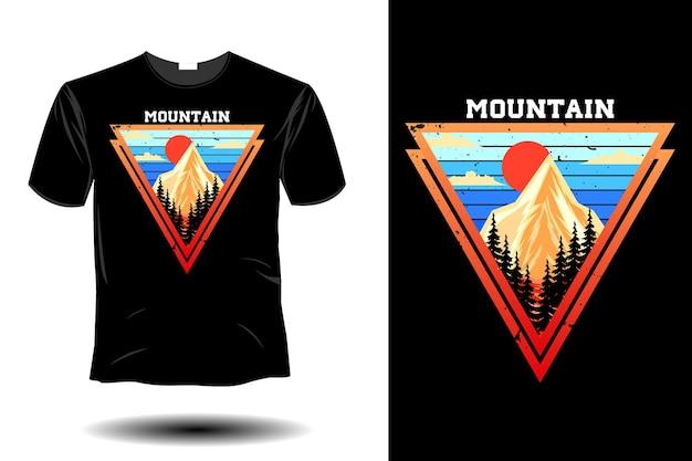 산 이랑 복고풍 빈티지 디자인