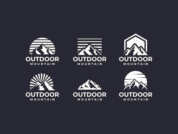 Mountain, mountain scenery, outdoor mountain logo
