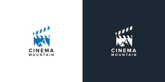 Mountain movie studio production logo