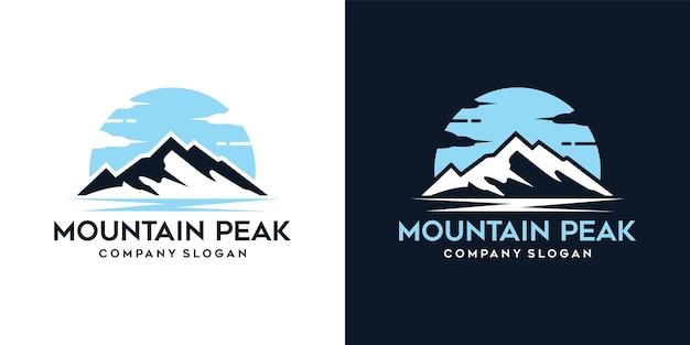 Mountain peak adventure logo