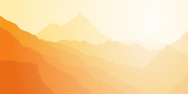 朝の霞の山脈