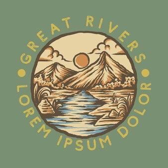 Иллюстрация горных рек