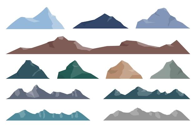 孤立した山のセット