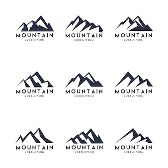 Mountain Shape Logo Design Set