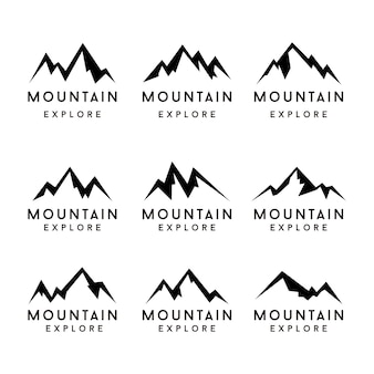 Mountain shapes icon set. mountain
