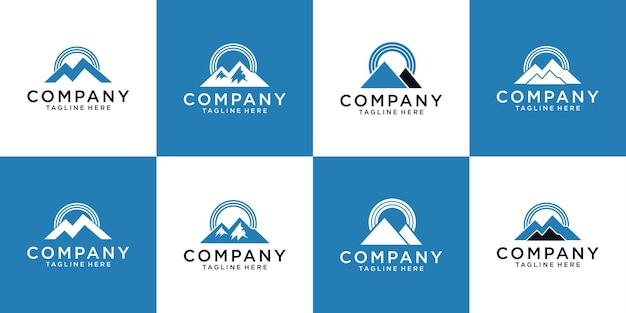 Mountain and signal logo design