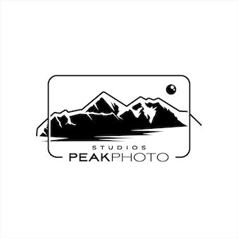 Mountain silhouette landscape logo design