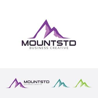 Mountain studio and outdoors logo template