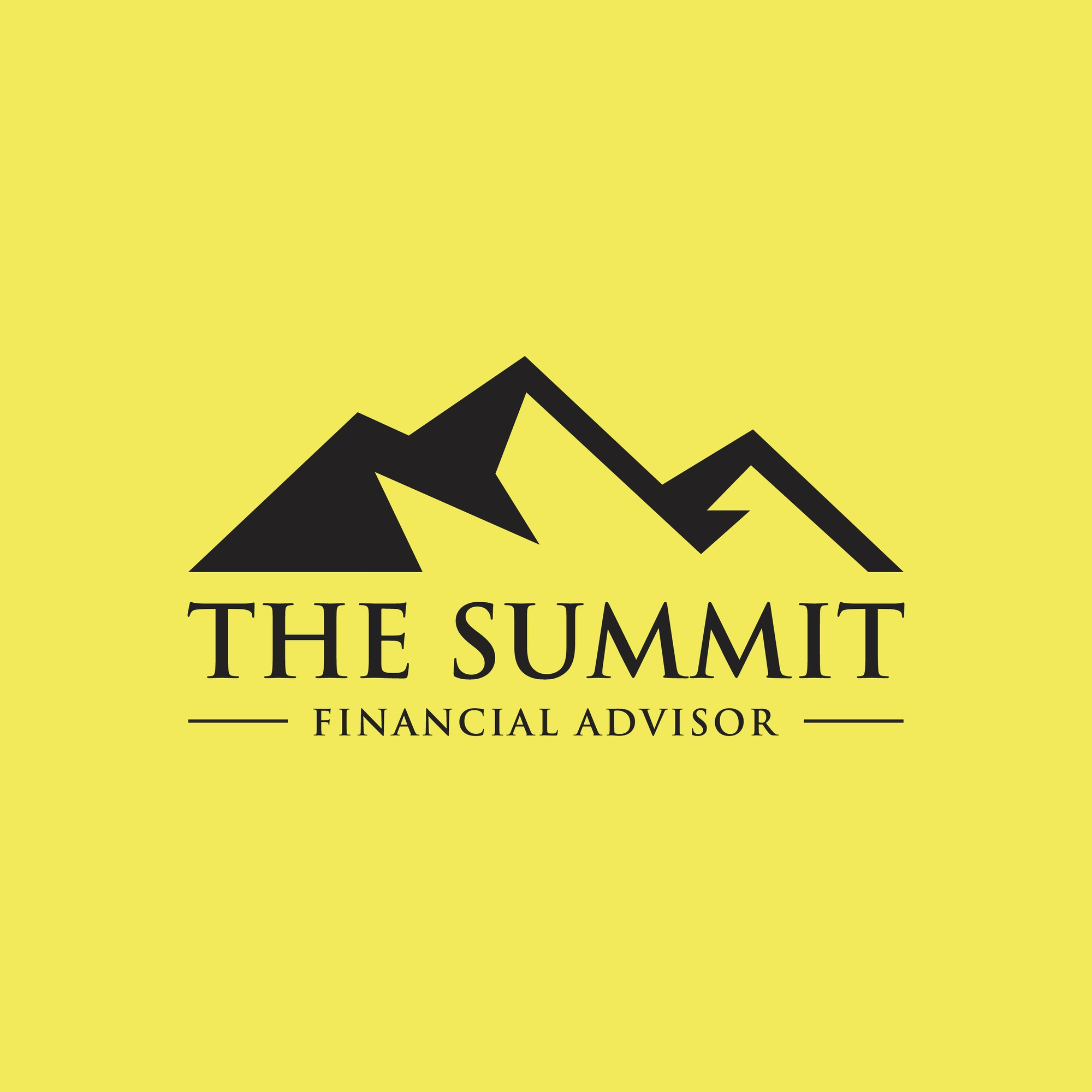 Mountain Summit Theme Symbol design