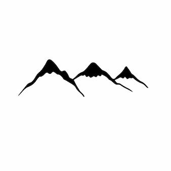 山のシンボルタトゥーデザインベクトル図