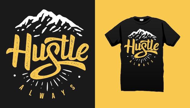 マウンテンtシャツのデザイン