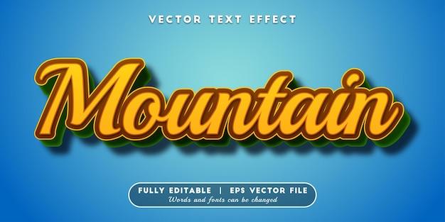 Mountain text effect editable text style