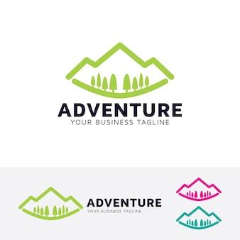 Mountain travel logo template