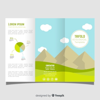 Mountain trifold brochure template
