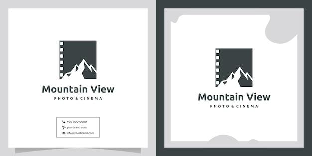 Mountain view cinema and movie logo design