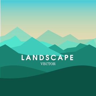 Mountain view landscape background