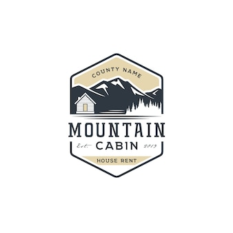Mountain view with cabin for village house rent logo