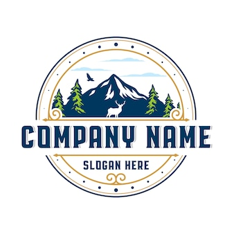 Mountain vintage badge logo