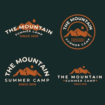 Mountain vintage badge