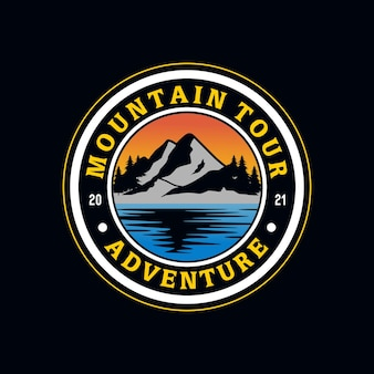 산 빈티지 로고 그림