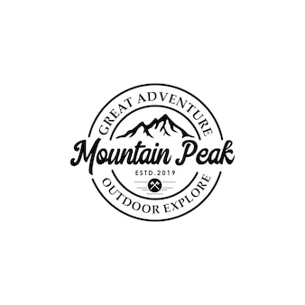 Mountain vintage logo template