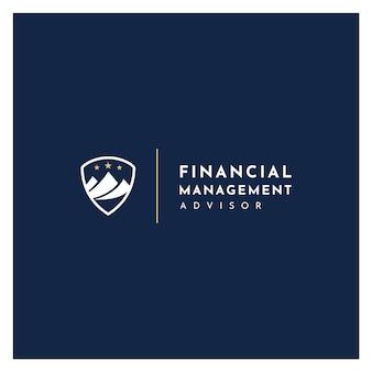 統計マーケティング金融ロゴのある山