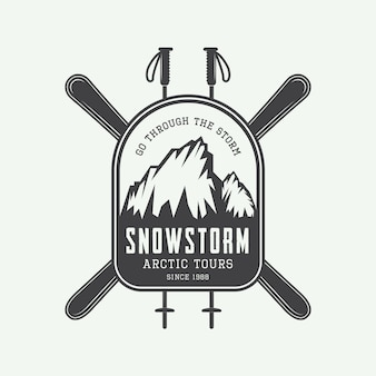 Mountaineering expeditions logo Premium Vector