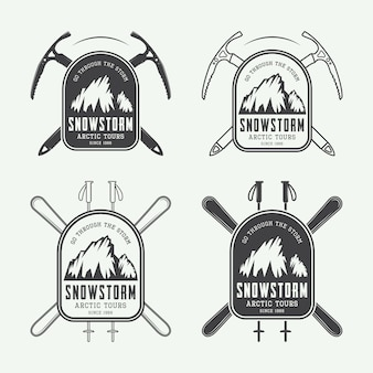 Mountaineering and expeditions logos
