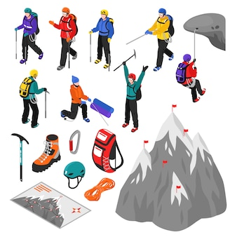 Mountaineering isometric set