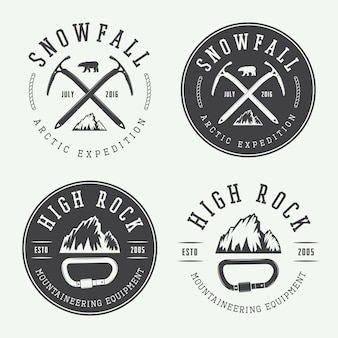 Mountaineering logos