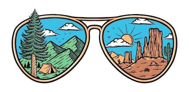 Горы и пустыни в очках