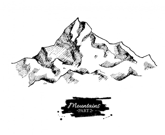 Mountains drawing.