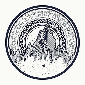円の中の山
